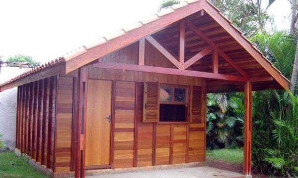 casa de madeira 1 comodo - Casas de Madeira