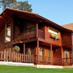 casa de madeira pre fabricada 150x150 - Projetos de casas pré fabricadas