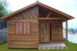 casa de madeira simples 300x200 - casa de madeira simples