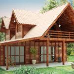 modelo casa de madeira 150x150 - Casas de Madeira