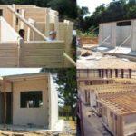 construir casas pre fabricadas 150x150 - Casa de madeira pré-fabricada vale a pena?