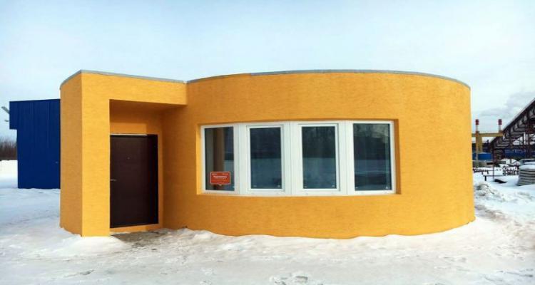 casa impressora 3d 24 horas 696x480 - Casa construida com uma impressora 3D em apenas 1 dia