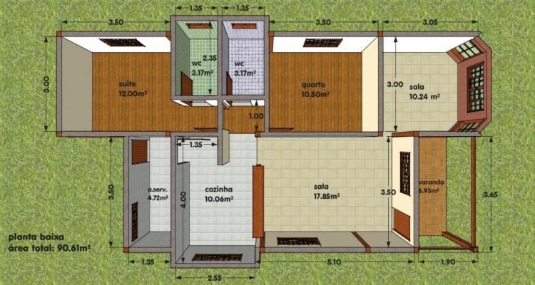 Projeto 1 1024x536 - Ideias e projetos de casas térreas