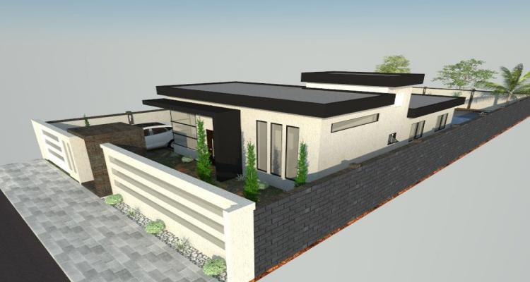 projeto 3d de casa terrea em caraguatatuba 729157 - Ideias e projetos de casas térreas