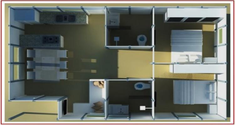 js casas 2 dormi modelo 1 560x362 - VEJA ANTES DE COMPRAR UMA CASA PRÉ-MOLDADA (DIFERENÇAS EM COMPARAÇÃO A UMA CASA COMUM