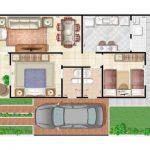 Planta de chácara grátis 150x150 - Plantas de casas com 3 quartos