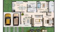 20180612plantas de casas com 3 quartos 9 200x107 - Plantas de casas com 3 quartos